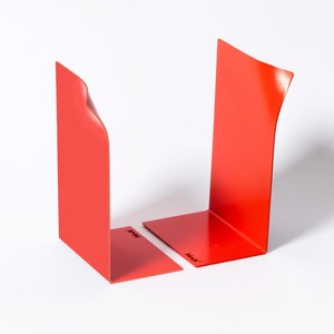 Block Page Book Ends Red