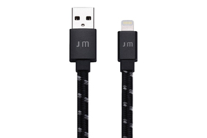 Just Mobile Alucable Flat Braided Lightning Cable 1.2M Black