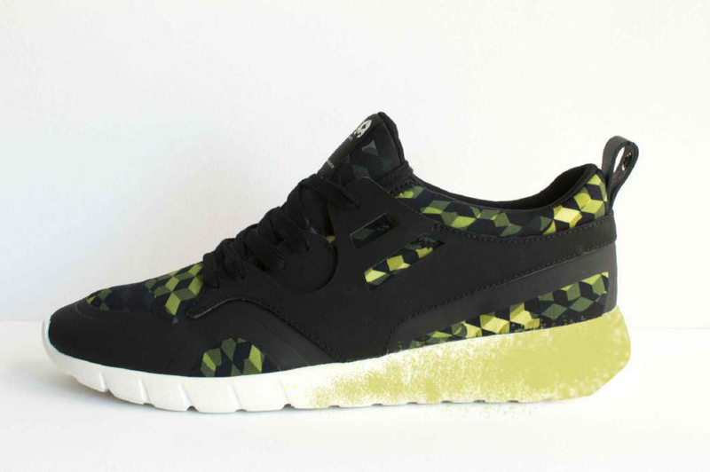 Running Camouflage Black/Green Women'S Sneakers Size 38