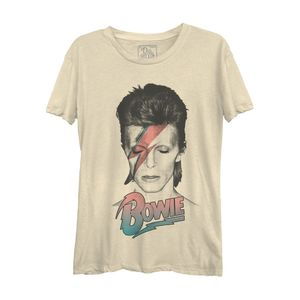David Bowie Pastel's Casual Women's T-Shirt Cream