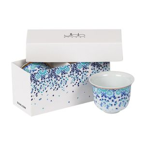 Silsal Mirrors Arabic Coffee Cups in Gift Box [Set of 2]