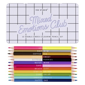 Yes Studio Mixed Emotions Colouring Pencils [Set of 12]