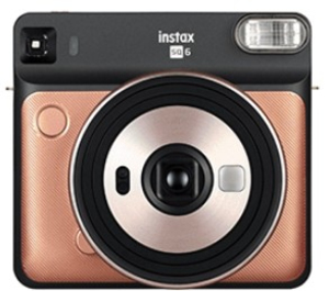 Fujifilm instax SQ 6 Blush Gold Instant Camera