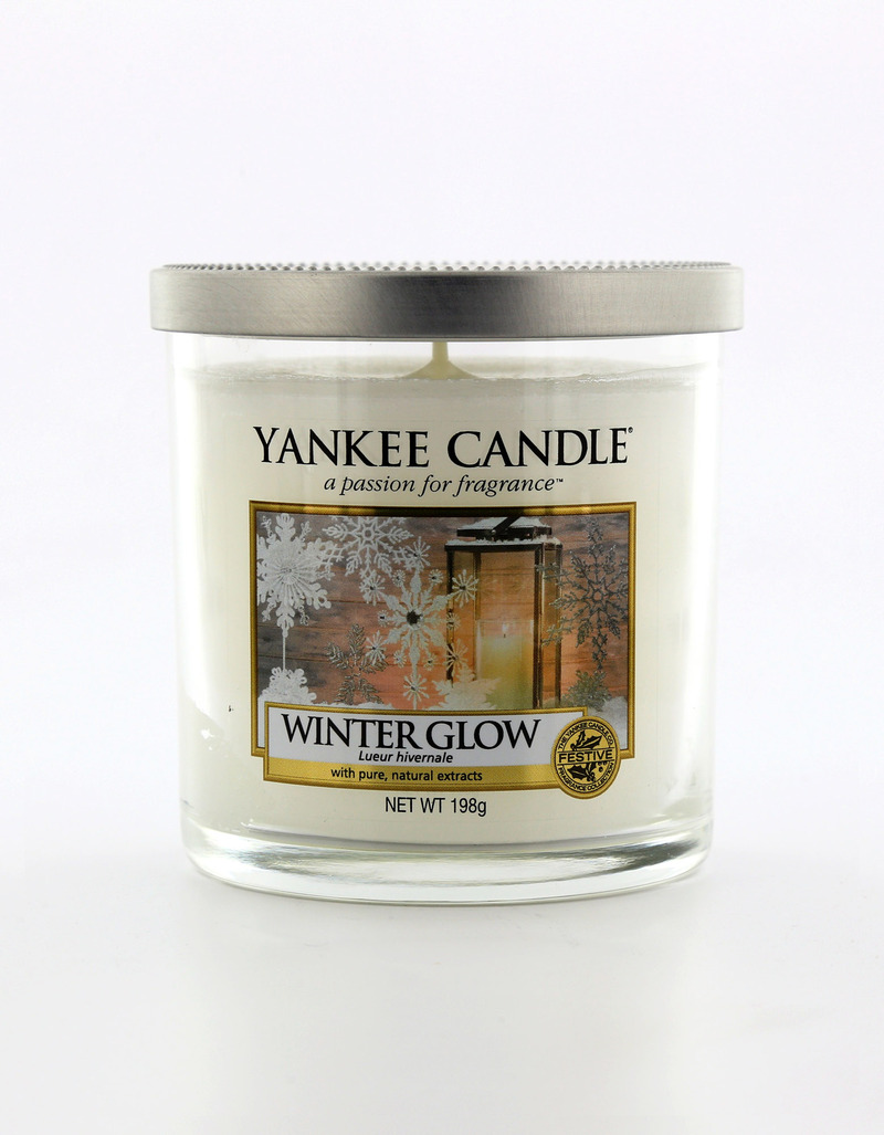 Yankee Candle Decor Pillar Winter Glow White Small  8bbe5a56c3eb