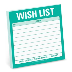 Knock Knock Wish List Sticky Note