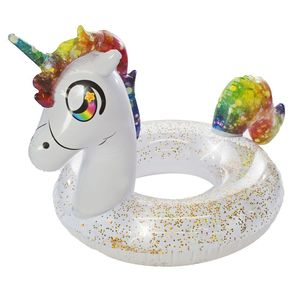 Glitterfied Jumbo Rainbow Unicorn Inflatable Pool Tube