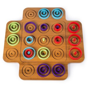 Otrio Wood Marble Game
