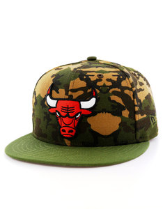 New Era Camo Team Fitted Chicago Bulls Woodland Camo Cap