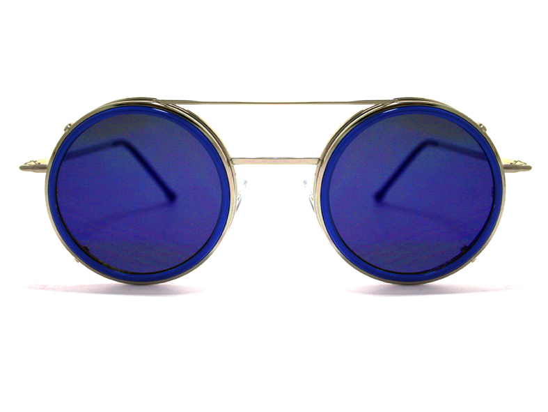 Spitfire Uk Sonic Clip On Silver/Blue Sunglasses