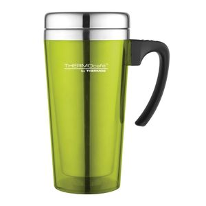 Thermos Thermocafe By Thermos Stainless Steel With Plastic Cover Drinking Mug 400 ml Lime Green