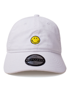 Difuzed Smiley Original Dad Men's Cap White