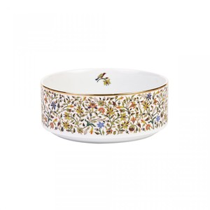 Silsal Small Majestic Cylinder Bowl with 22 Carat Gold
