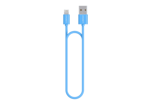 Cygnett Lightning Charge & Sync Blue Round Cable 2M