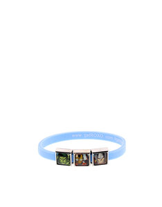 Roxo Avengers Assemble 3 Charm Light Blue Bracelet