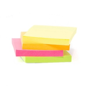 Onyx + Green Self Adhesive Notes Neon 1.5 x 2 cm [Pack of 4]