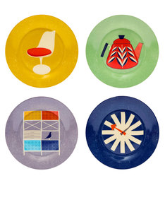The Modern Home Set Of 4 Plates