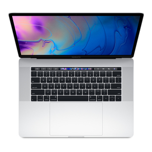 MacBook Pro 15-inch with Touch Bar Silver 2.6GHz 6-Core 8th-Generation Intel-Core i7/512GB Arabic/English