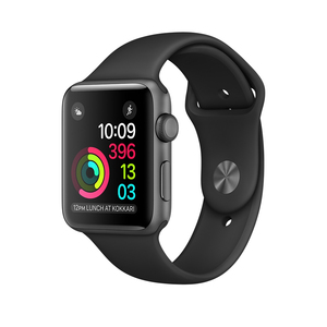 Apple Watch Series 2 Sport Band Black Space Grey Aluminium Case 38mm