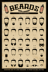 Beards The Art Of Manliness Maxi Poster [61 x 91.5 cm]