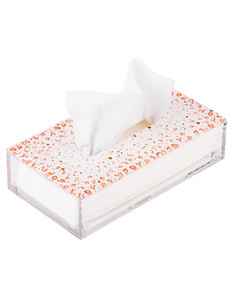 Silsal Design Accents Tissue Box Coral
