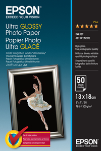 Epson Ultra Glossy Photo Paper [13x18cm] [50 Sheets]
