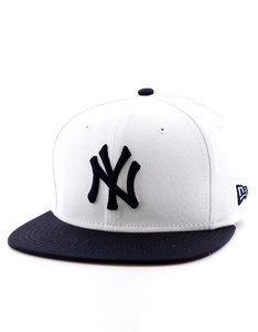 New Era Contrast Crown NY Yankees Optic White/Light Royal Cap