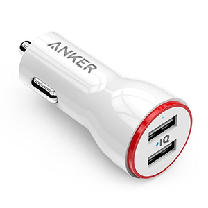 Anker Powerdrive 2 Black 2-Port Car Charger