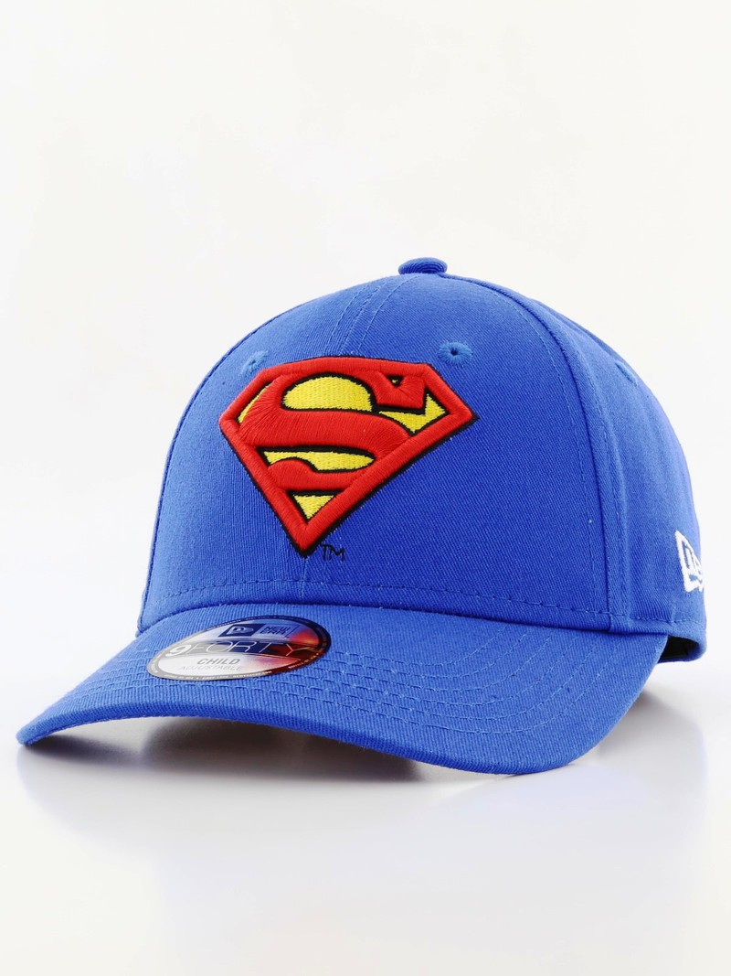 a12fac84c96 New Era Essential Superman Youth Boys Cap Blue