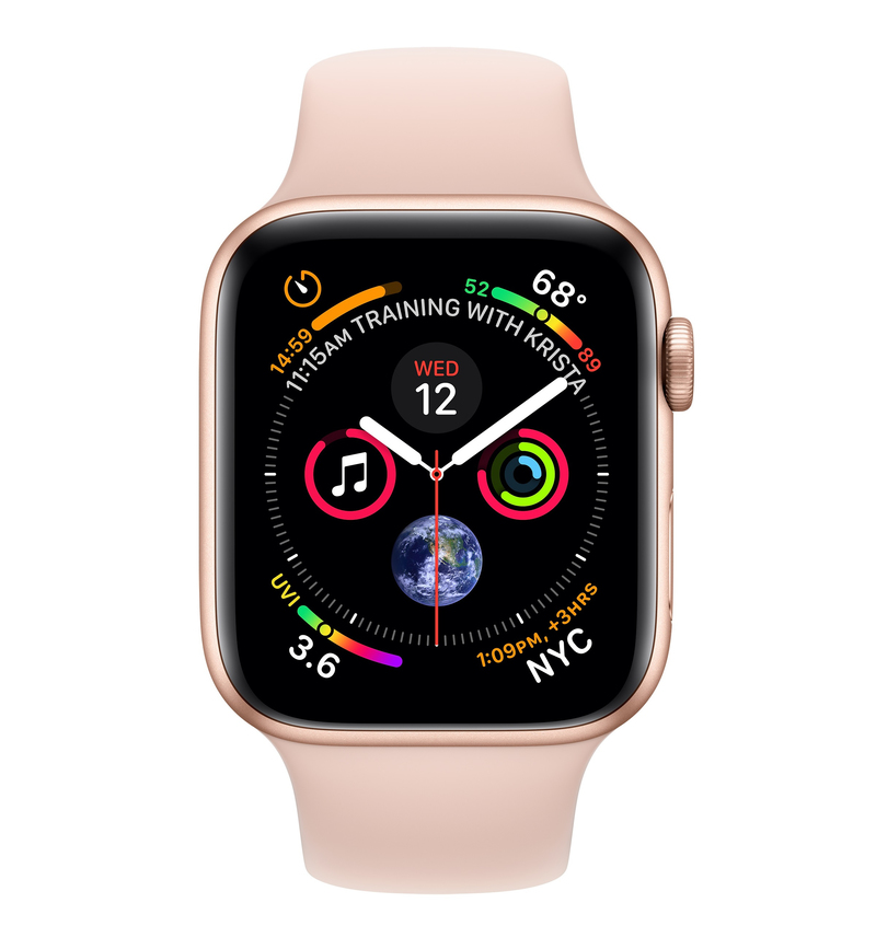 085c7b139782d ... Apple Watch Series 4 GPS +Cellular 40mm Gold Aluminium Case with Pink  Sand Sport Band ...