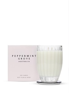 Peppermint Grove Red Plum & Rose Candle 350g