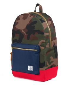 Herschel Settlement Woodland Camo/Navy/Red Backpack