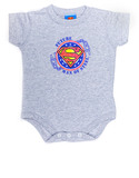 Superman Future Man Of Steel Heather Infant Snapsuit 12Mos