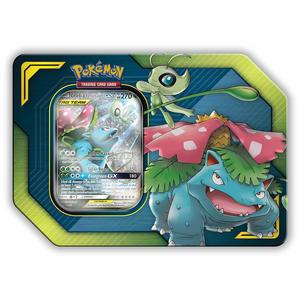Pokemon TCG Trading Cards Tag Team Tin Celebi & Venusaur GX
