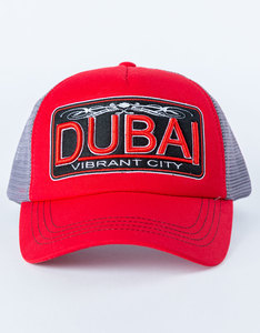 B180 Dubai Vibrant City Red Cap