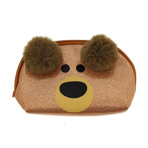Happy Zoo Brown Bear Dome Pencil Case