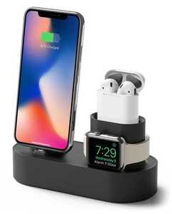 Elago 3-in-1 Black Charging Hub for Apple Watch