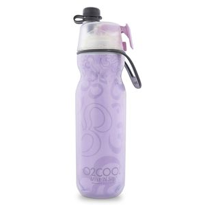 O2Cool Classic Elite Insulated Arctic Squeeze Mist'N Sip Water Bottle Yoga Purple 20 oz
