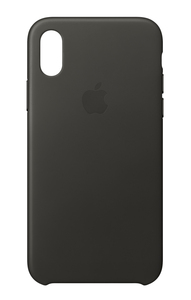 Apple Leather Case Charcoal Grey for iPhone X