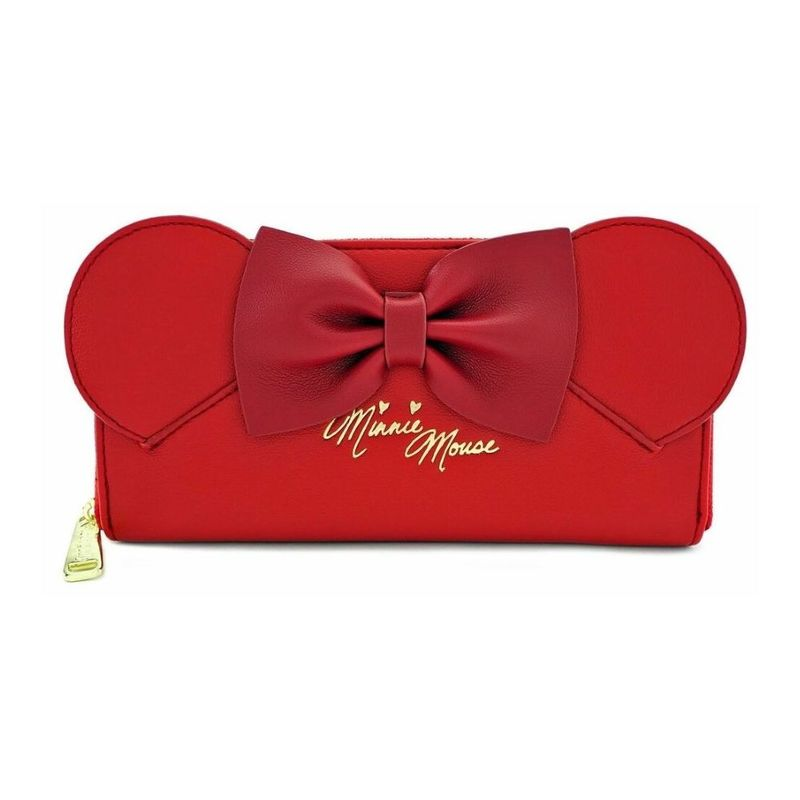 Loungefly Disney Red Minnie Ears Ziparound Wallet