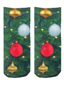 Xmas Ornaments Ankle Socks