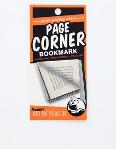 Page Corners Book Worms Orange