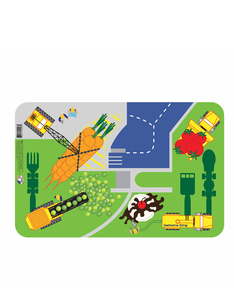 Constructive Eating Construction Work Site Placemat Multi Colored