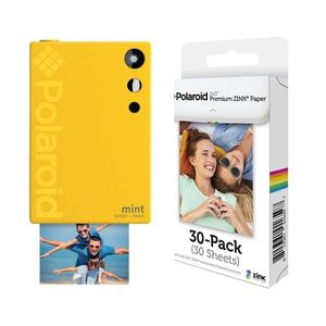 Polaroid Mint Instant Digital Camera Yellow + Zink Paper [Pack of 30]