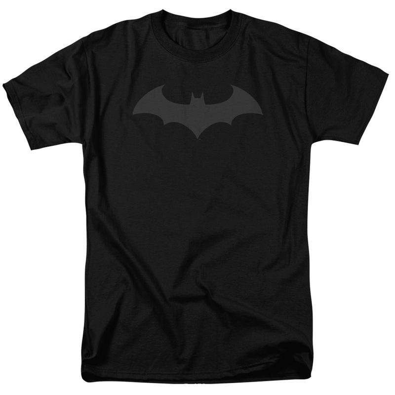 Batman Hush Logo Men's Poly-Crew Black T-Shirt