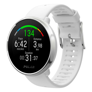 Polar Ignite White/Silver Smart Watch Small