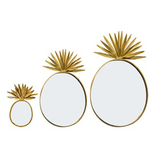 Bombay Duck Pineapple Mirrors Set Of 3 Wall Decor