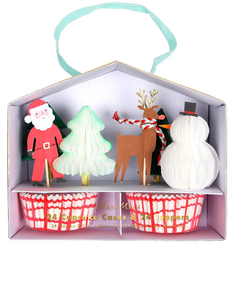 Meri Meri Christmas Santa Scene Cupcake Kit