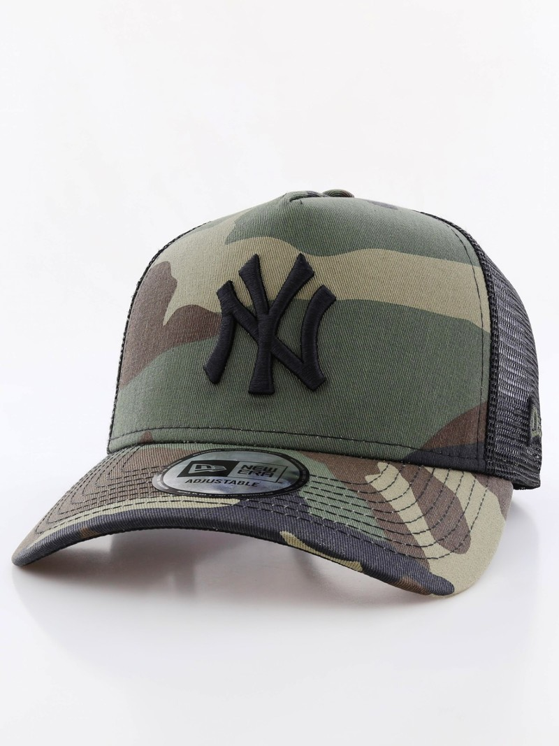 New Era Clean Trucker NY Yankees Woodland Camo Black Cap  545edc1a4cb