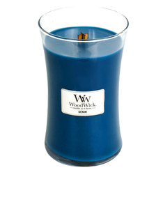 Woodwick Large Denim Blue Candle