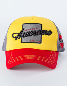 B180 Awesome2 Red/Yellow/Grey Cap
